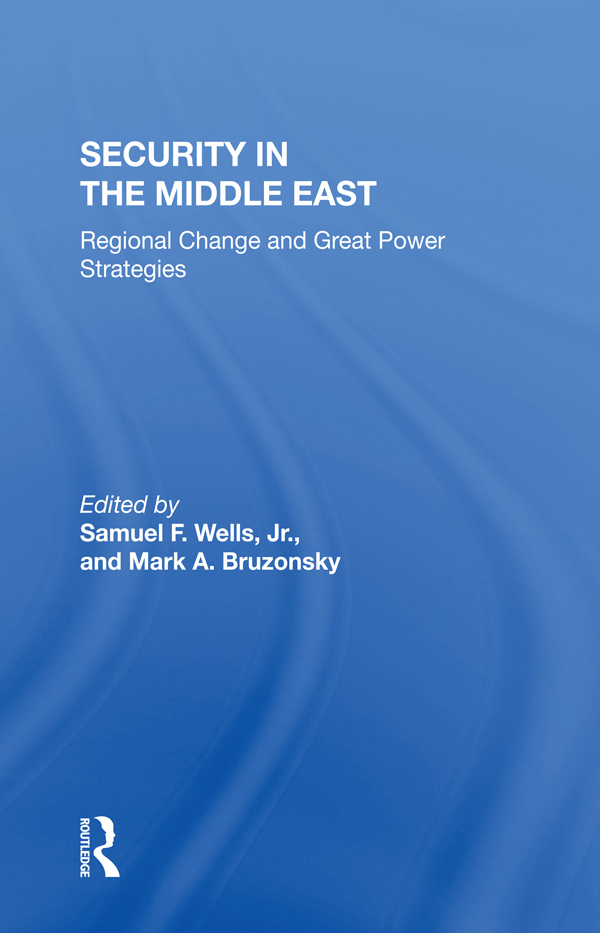 Security In The Middle East: Regional Change And Great Power Strategies book cover