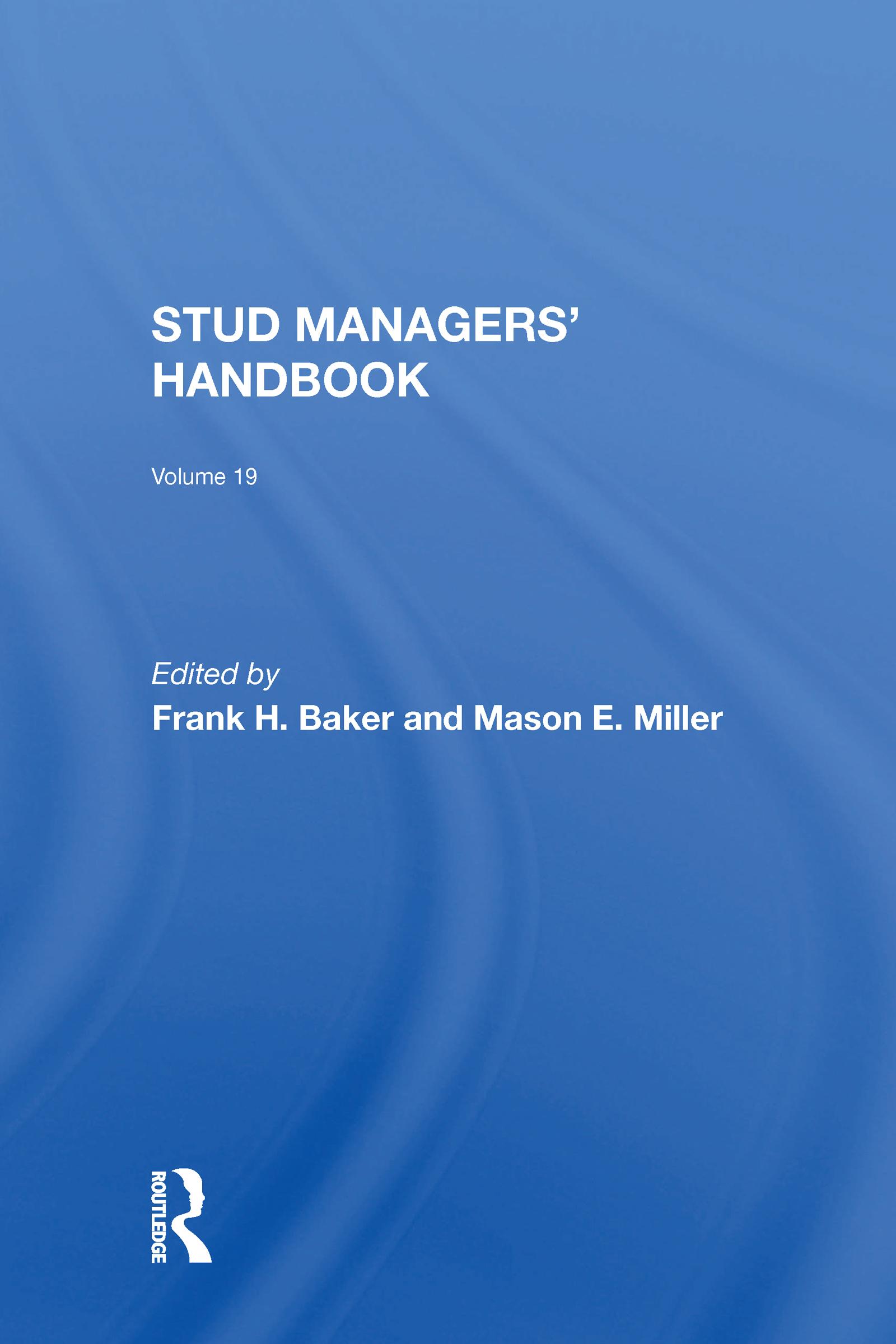 Stud Managers' Handbook, Vol. 19