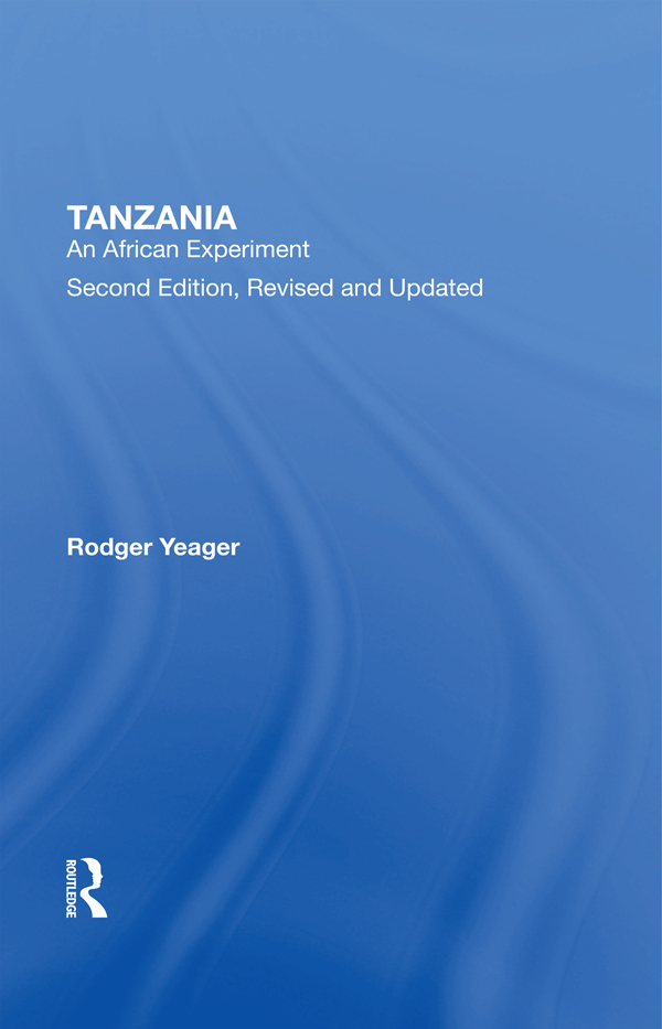 Tanzania: An African Experiment book cover
