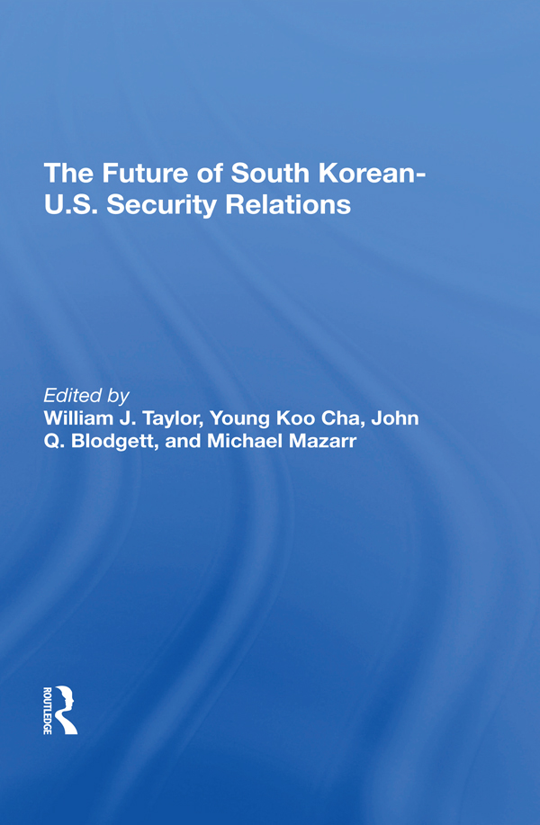 The Future Of South Korean-U.S. Security Relations