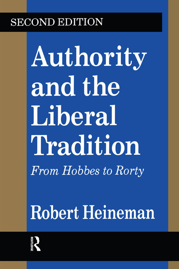 Authority and the Liberal Tradition: From Hobbes to Rorty book cover