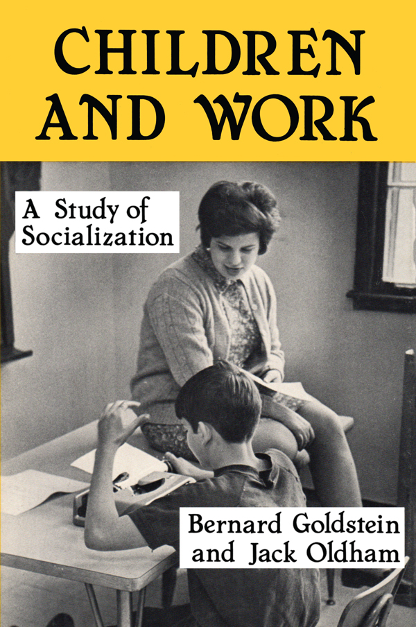Children and Work: Study of Socialization book cover