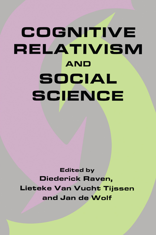Cognitive Relativism and Social Science book cover