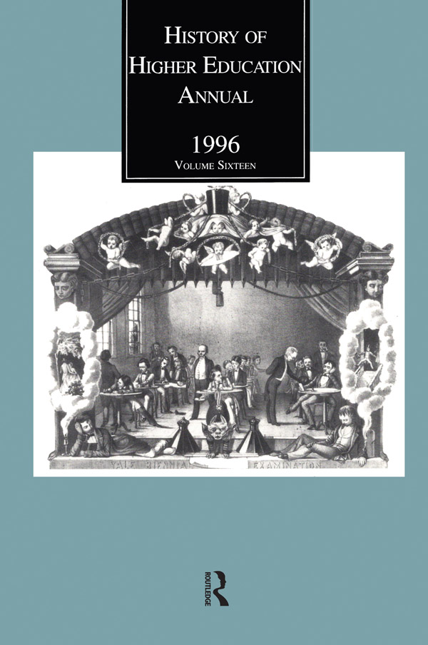 History of Higher Education Annual