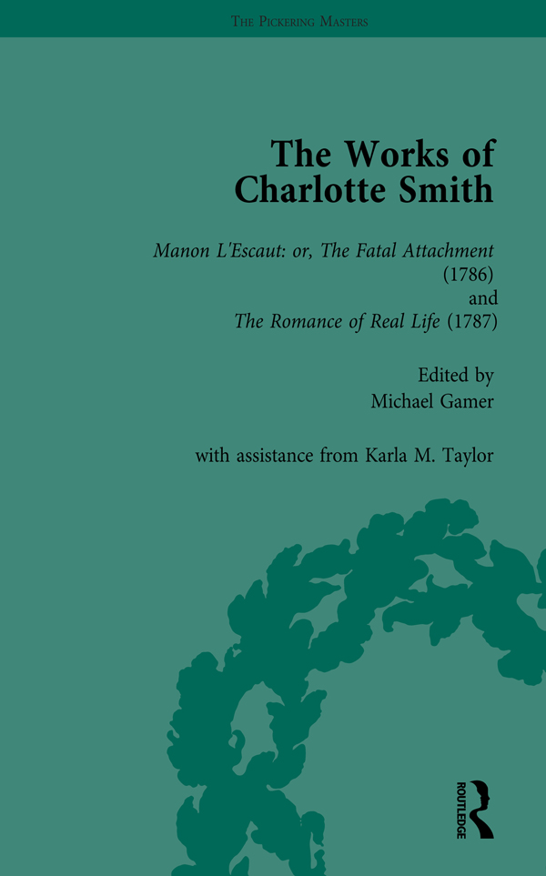 The Works of Charlotte Smith, Part I Vol 1 book cover