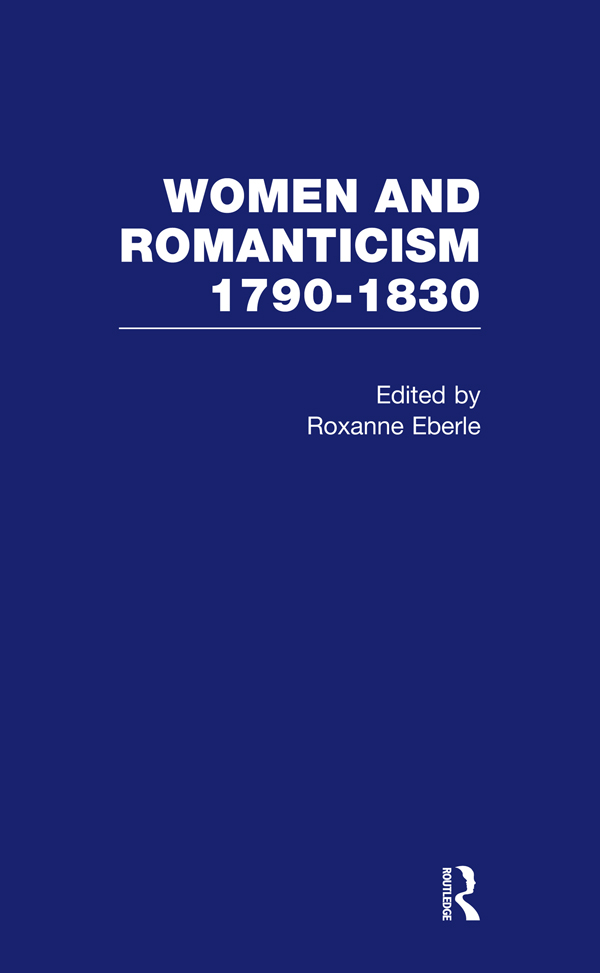 Women & Romanticism Vol1 book cover