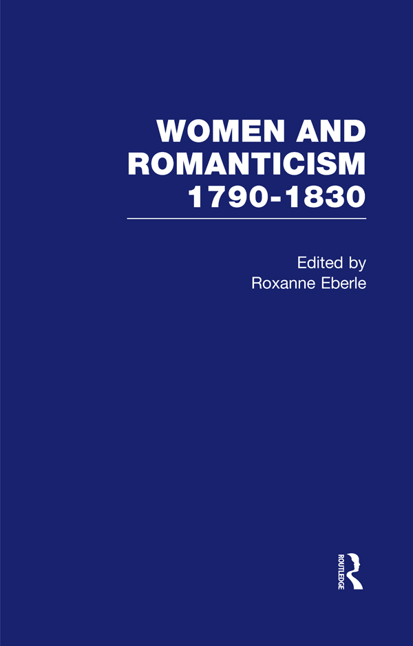 Women & Romanticism Vol4 book cover