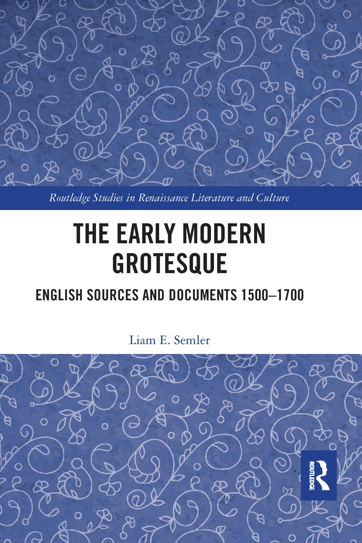 The Early Modern Grotesque