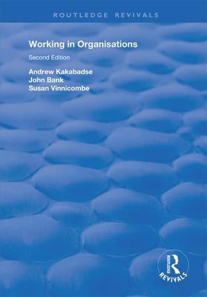 Working in Organisations: 1st Edition (e-Book) book cover