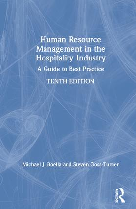 Human Resource Management in the Hospitality Industry: A Guide to Best Practice book cover