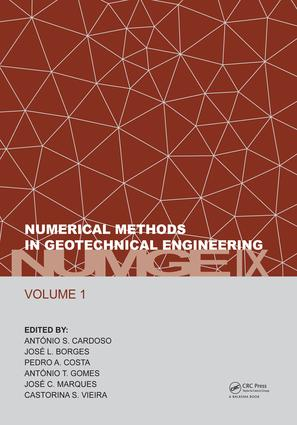 Numerical Methods in Geotechnical Engineering IX, Volume 1: Proceedings of the 9th European Conference on Numerical Methods in Geotechnical Engineering (NUMGE 2018), June 25-27, 2018, Porto, Portugal, 1st Edition (Hardback) book cover