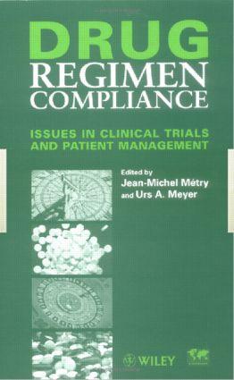 Drug Regimen Compliance: 1st Edition (Hardback) book cover
