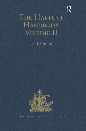 The Hakluyt Handbook: Volume II book cover