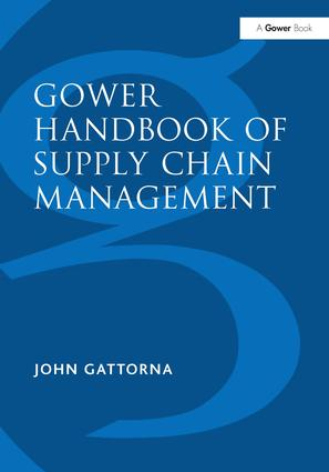 Gower Handbook of Supply Chain Management: 5th Edition (Hardback) book cover