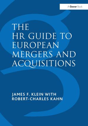 The HR Guide to European Mergers and Acquisitions: 1st Edition (Hardback) book cover