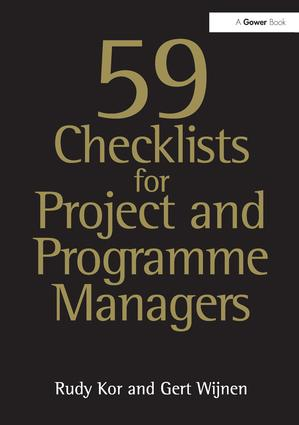 59 Checklists for Project and Programme Managers: 2nd Edition (Paperback) book cover