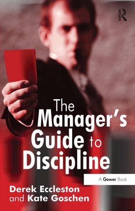 The Manager's Guide to Discipline book cover