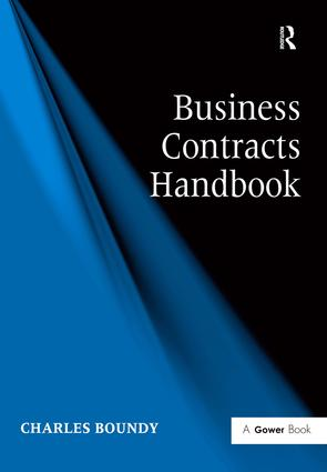 Business Contracts Handbook: 1st Edition (Hardback) book cover