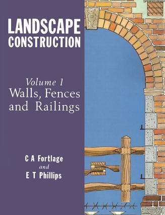 Landscape Construction: Volume 1: Walls, Fences and Railings book cover