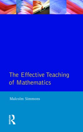 Effective Teaching of Mathematics, The book cover