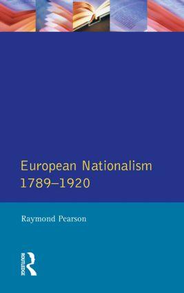 The Longman Companion to European Nationalism 1789-1920 book cover