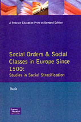 The language of orders in early modern Europe