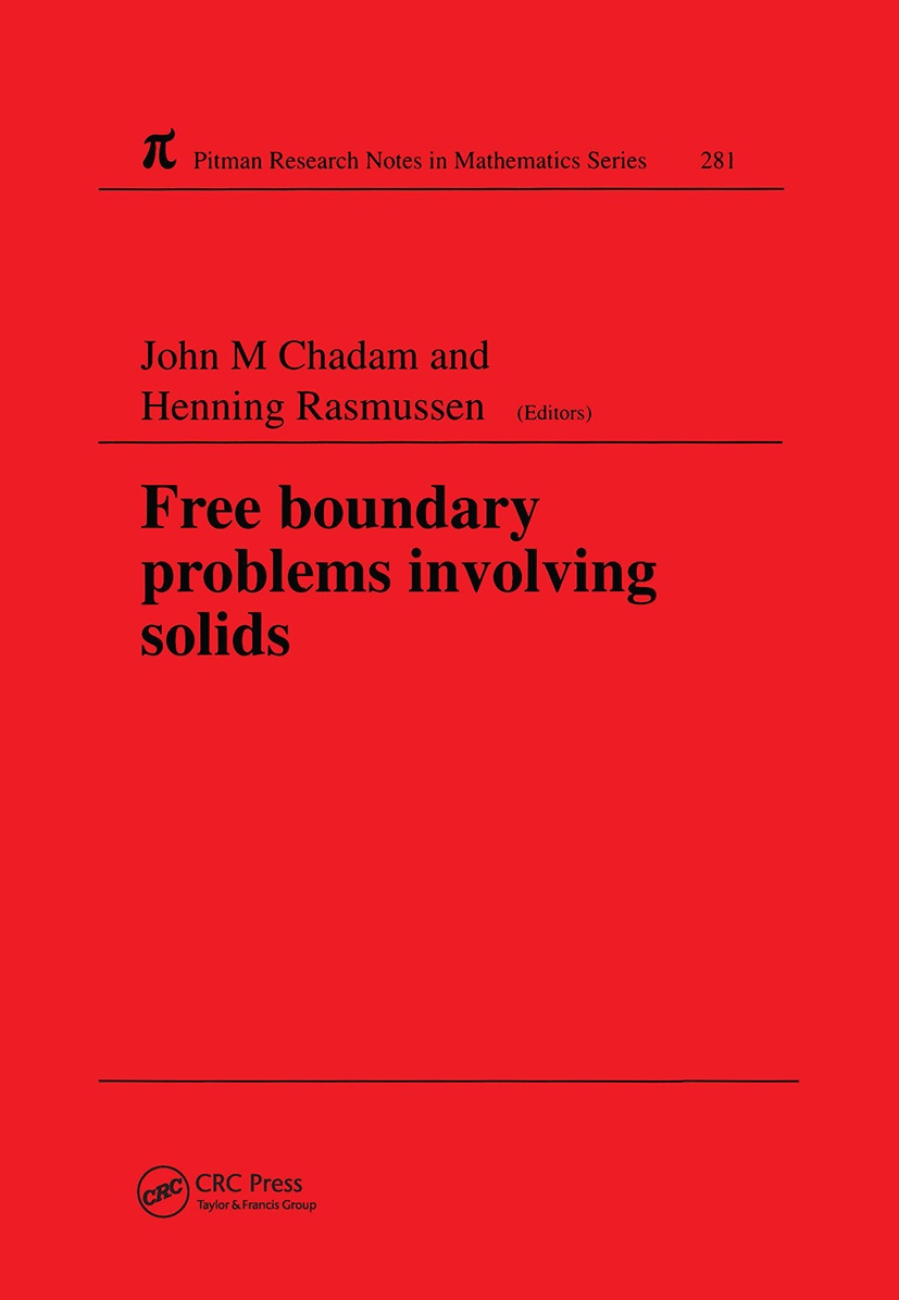 Free Boundary Problems Involving Solids: 1st Edition (Hardback) book cover