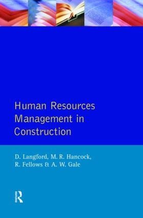 Human Resources Management in Construction: 1st Edition (Paperback) book cover