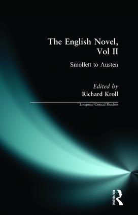English Novel, Vol II, The: Smollett to Austen, 1st Edition (Paperback) book cover