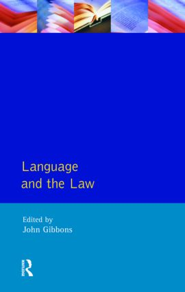 Language and the Law: 1st Edition (e-Book) book cover