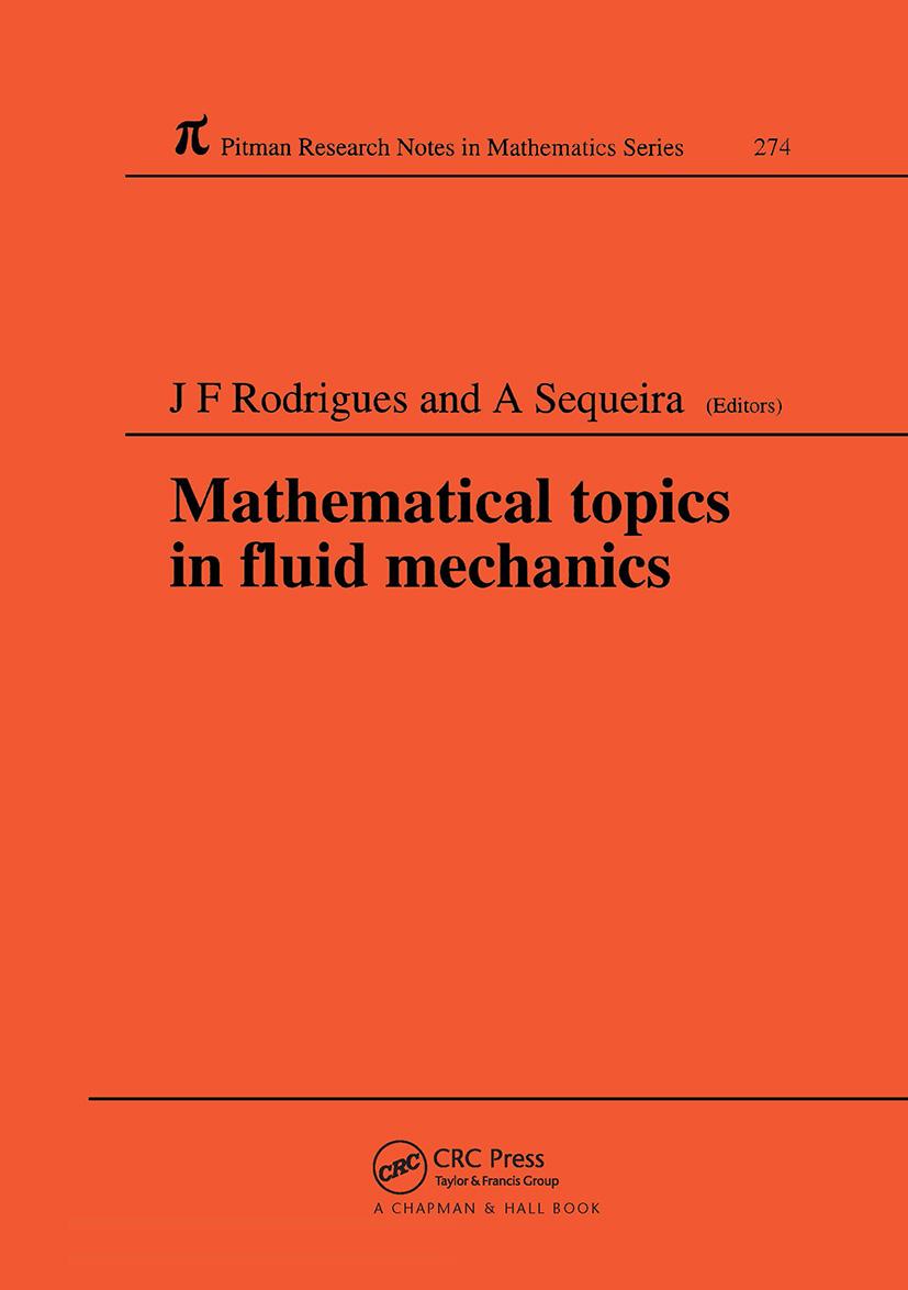 Mathematical Topics in Fluid Mechanics: 1st Edition (Hardback) book cover