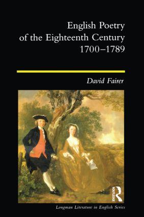 English Poetry of the Eighteenth Century, 1700-1789