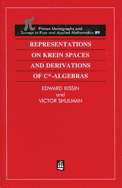Representations on Krein Spaces [Hot] and Derivations of C*-Algebras book cover