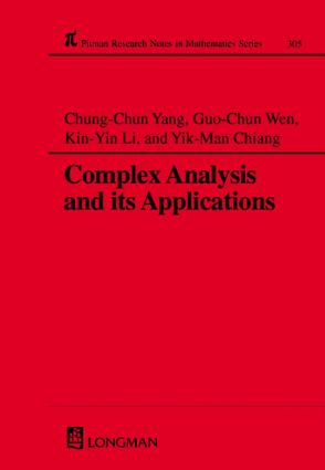 Complex Analysis and Its Applications: 1st Edition (Hardback) book cover