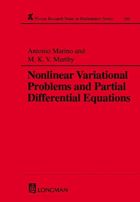 Nonlinear Variational Problems and Partial Differential Equations: 1st Edition (Paperback) book cover