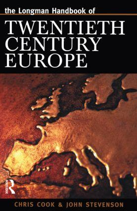 Longman Handbook of Twentieth Century Europe book cover