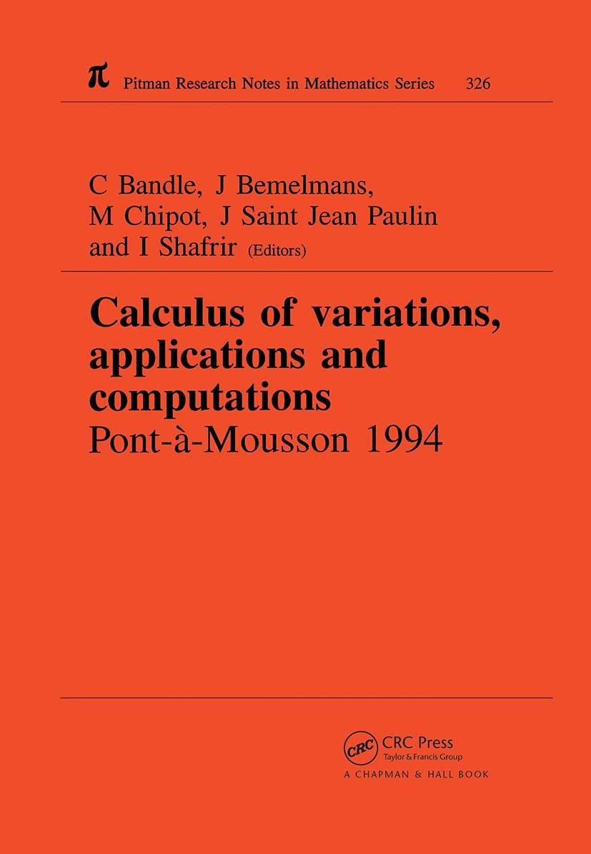 Calculus of Variations, Applications and Computations: 1st Edition (Hardback) book cover