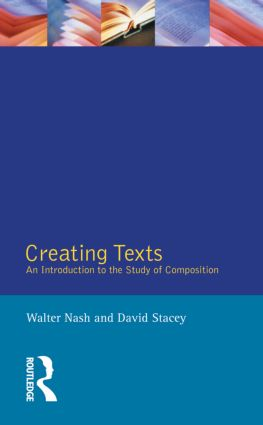 Creating Texts: An Introduction to the Study of Composition, 2nd Edition (Paperback) book cover
