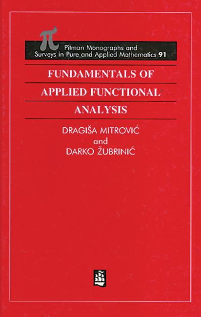 Fundamentals of Applied Functional Analysis book cover