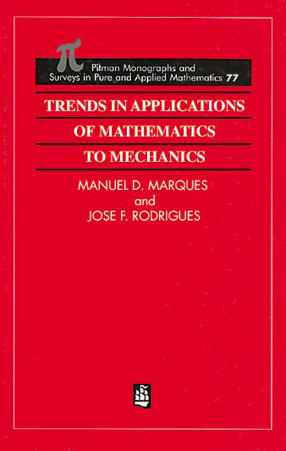 Trends in Applications of Mathematics to Mechanics (Hardback) book cover