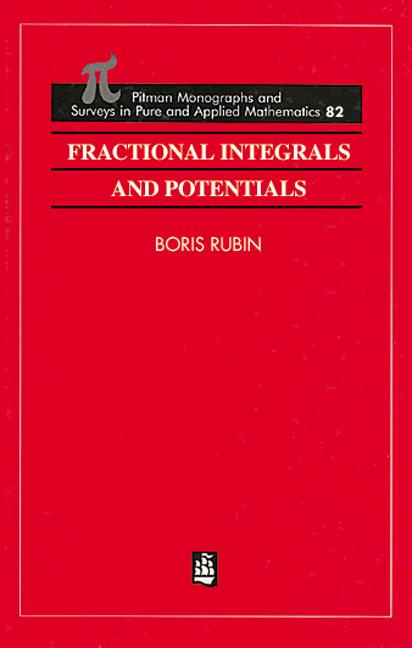 Fractional Integrals and Potentials: 1st Edition (Hardback) book cover