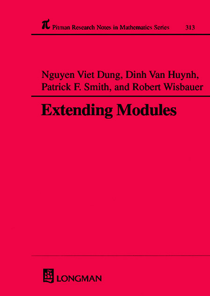 Extending Modules: 1st Edition (e-Book) book cover
