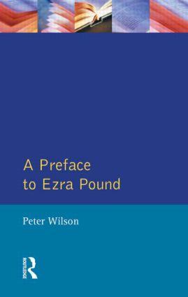 A Preface to Ezra Pound book cover