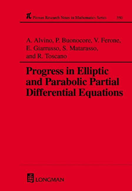Progress in Elliptic and Parabolic Partial Differential Equations: 1st Edition (Hardback) book cover