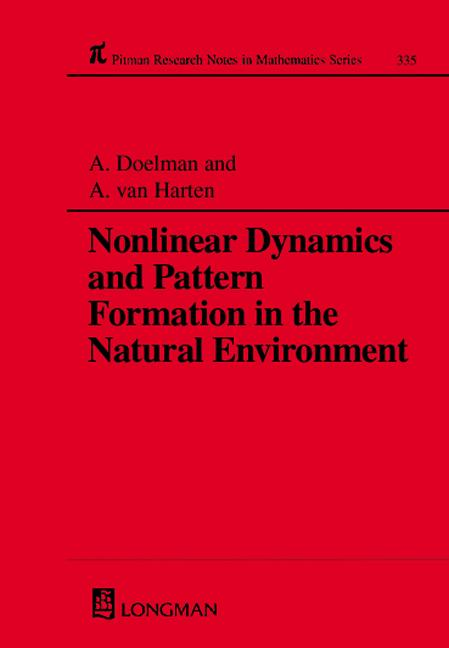 Nonlinear Dynamics and Pattern Formation in the Natural Environment: 1st Edition (Hardback) book cover