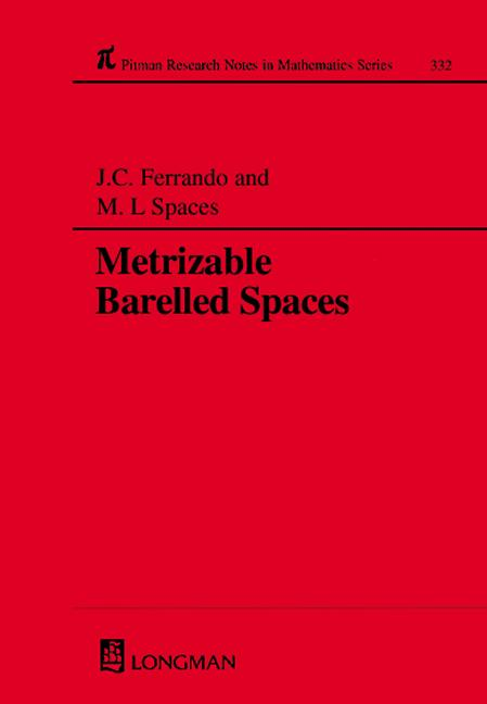 Metrizable Barrelled Spaces: 1st Edition (Hardback) book cover