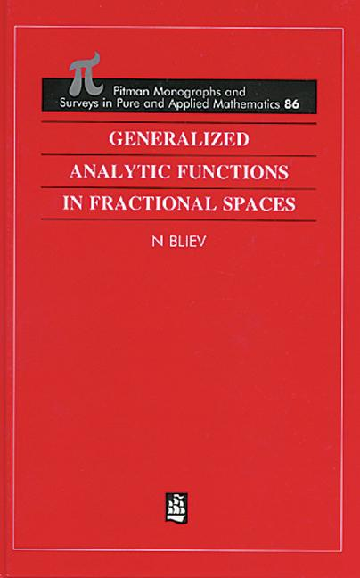 Generalized Analytic Functions in Fractional Spaces: 1st Edition (Hardback) book cover
