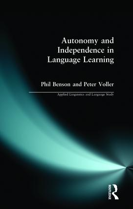 Autonomy and Independence in Language Learning book cover