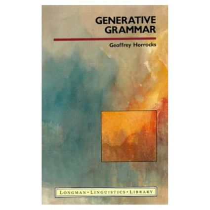 Generative Grammar: 1st Edition (Paperback) book cover