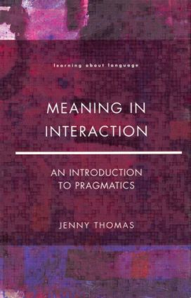 Meaning in Interaction (Paperback) book cover